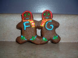 Fred and George Gingerbread by AllyCatastrophe