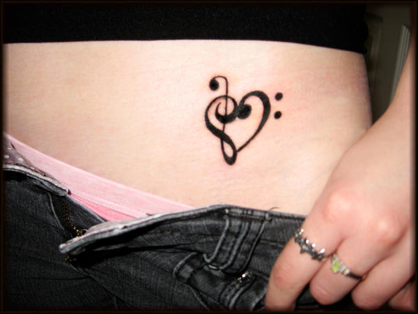 Music Heart Tattoo by =AllyBear24 on deviantART