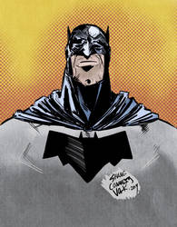 BATMAN Quick Sketch and Colour by ShaneConneryVolk