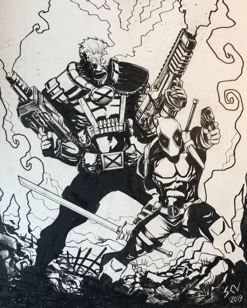 Cable and Deadpool by ShaneConneryVolk