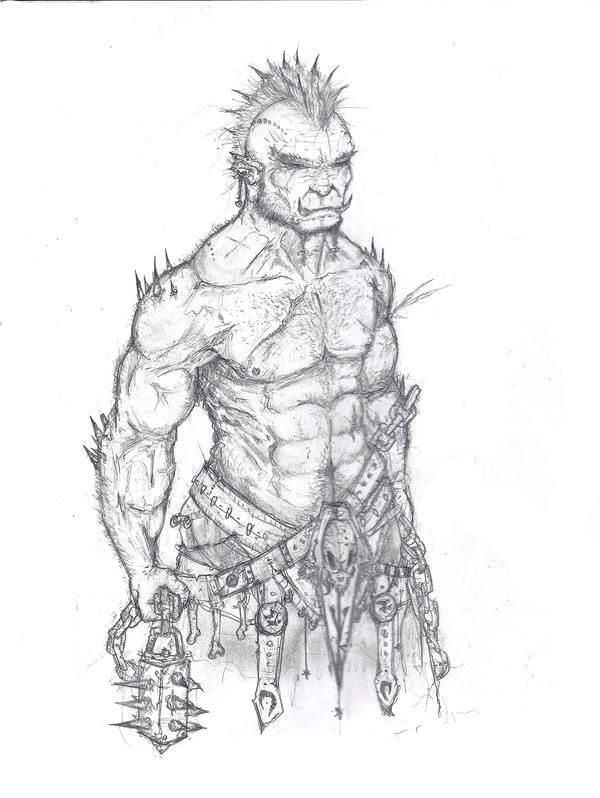 Orc Warrior, wow inspired by Captain-Jesse