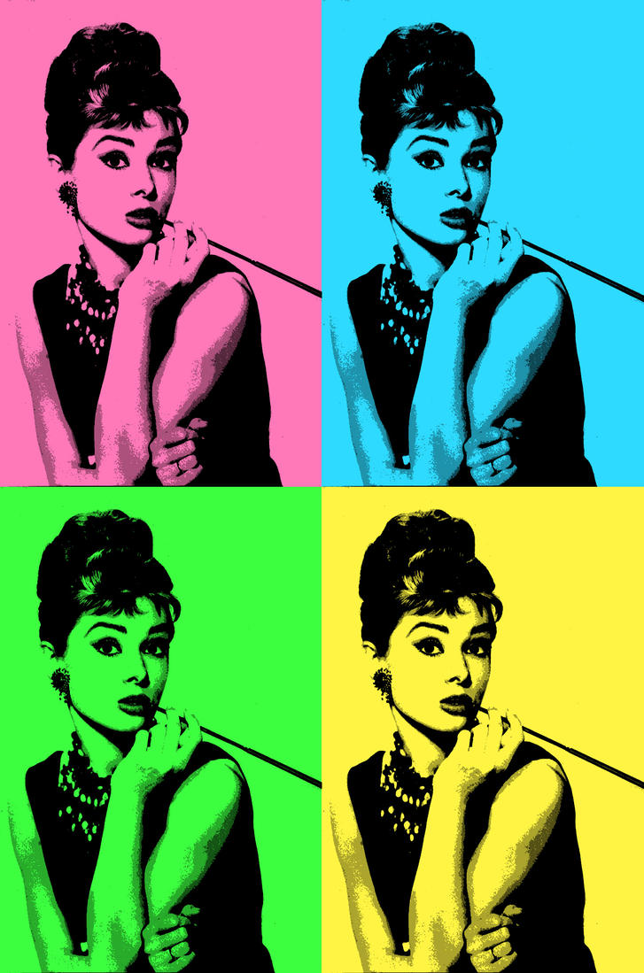 Audrey Hepburn Pop Art by SoulLily on DeviantArt
