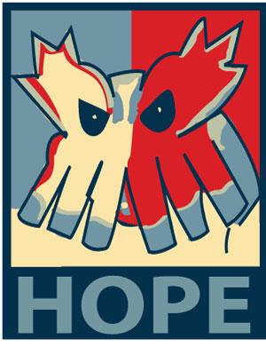 Obamasnow poster by Ryukeshun