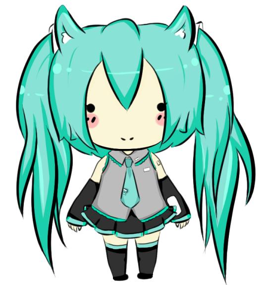 Miku Neko-Chibi by Duda-Baka-chan on DeviantArt