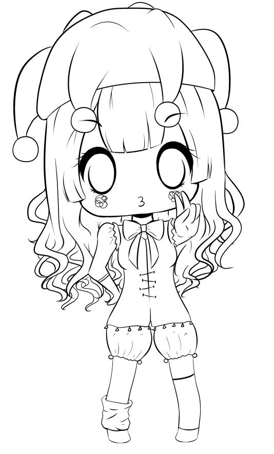 Chibi Lineart by Duda-Baka-chan on DeviantArt