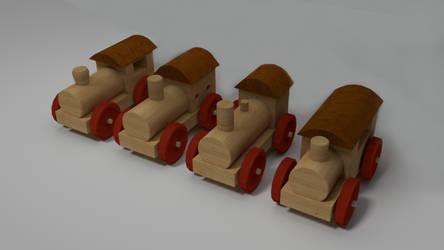 wood locomotive