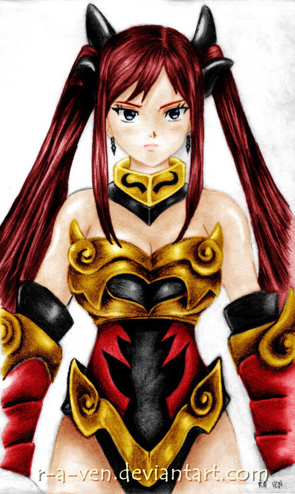 erza flame empress by zerosshadow on DeviantArt