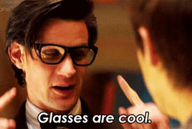 Glasses are cool - Matt Smith - GIF by Demon-Slayer13