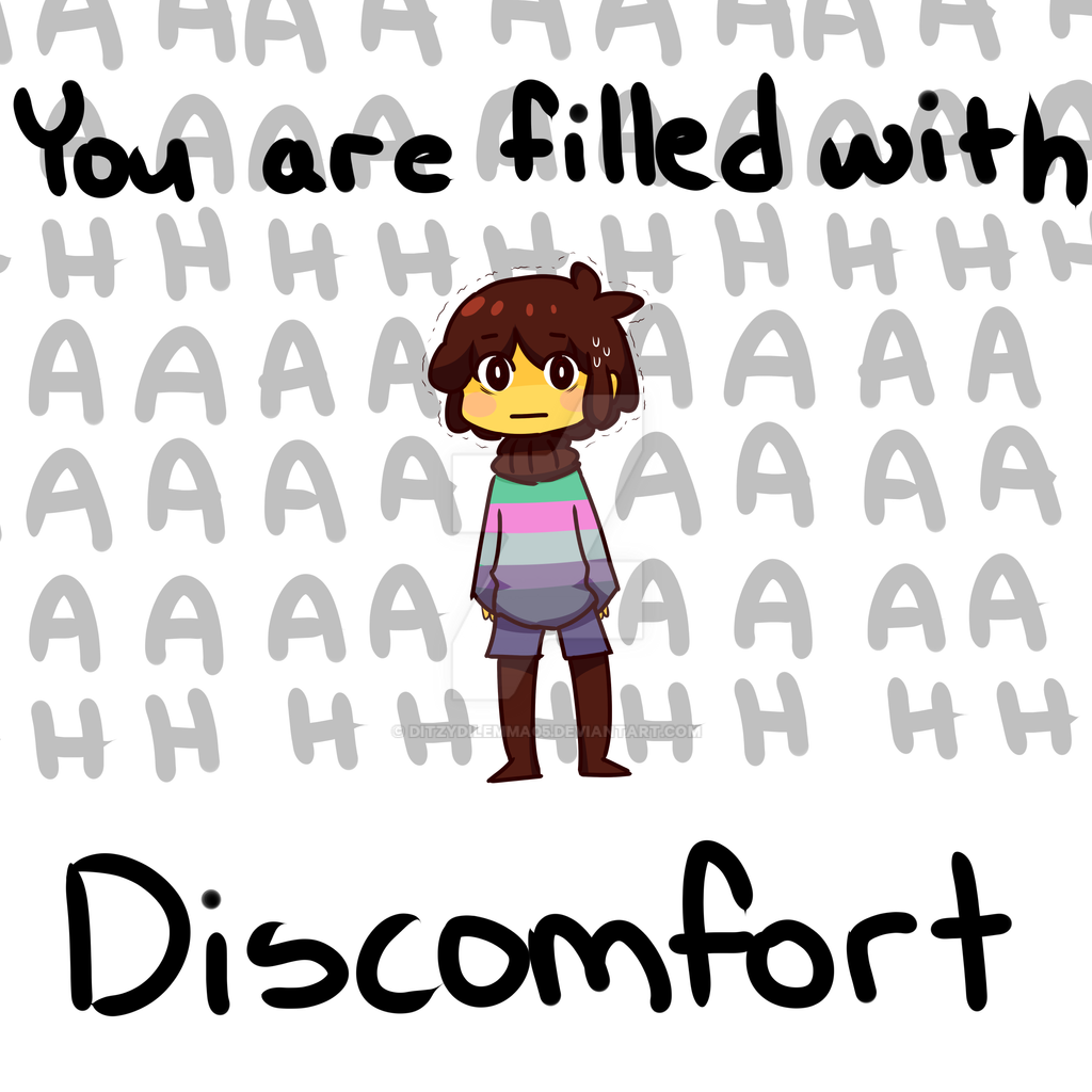undertale chisk is filled with discomfort by