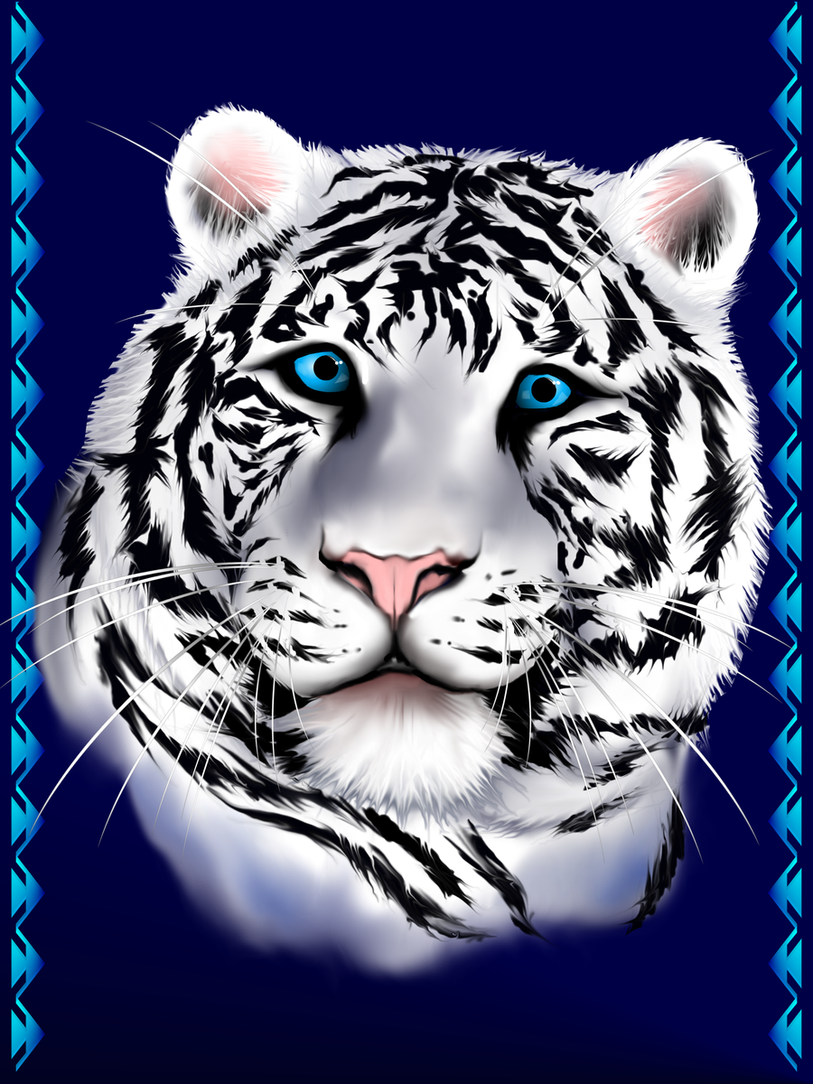 White Tiger Face by lotacats05 on DeviantArt