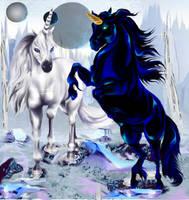 Two Unicorns by lotacats05