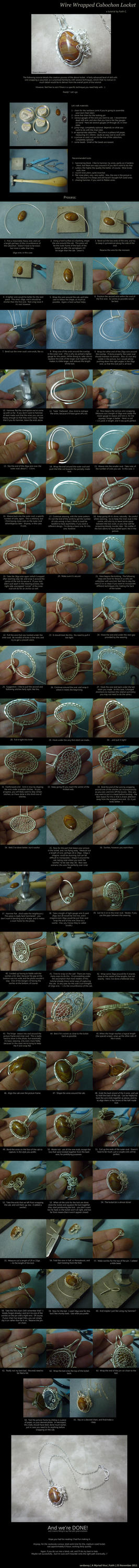 Wire Wrapped Cabochon Locket Tutorial by AMyriadVice