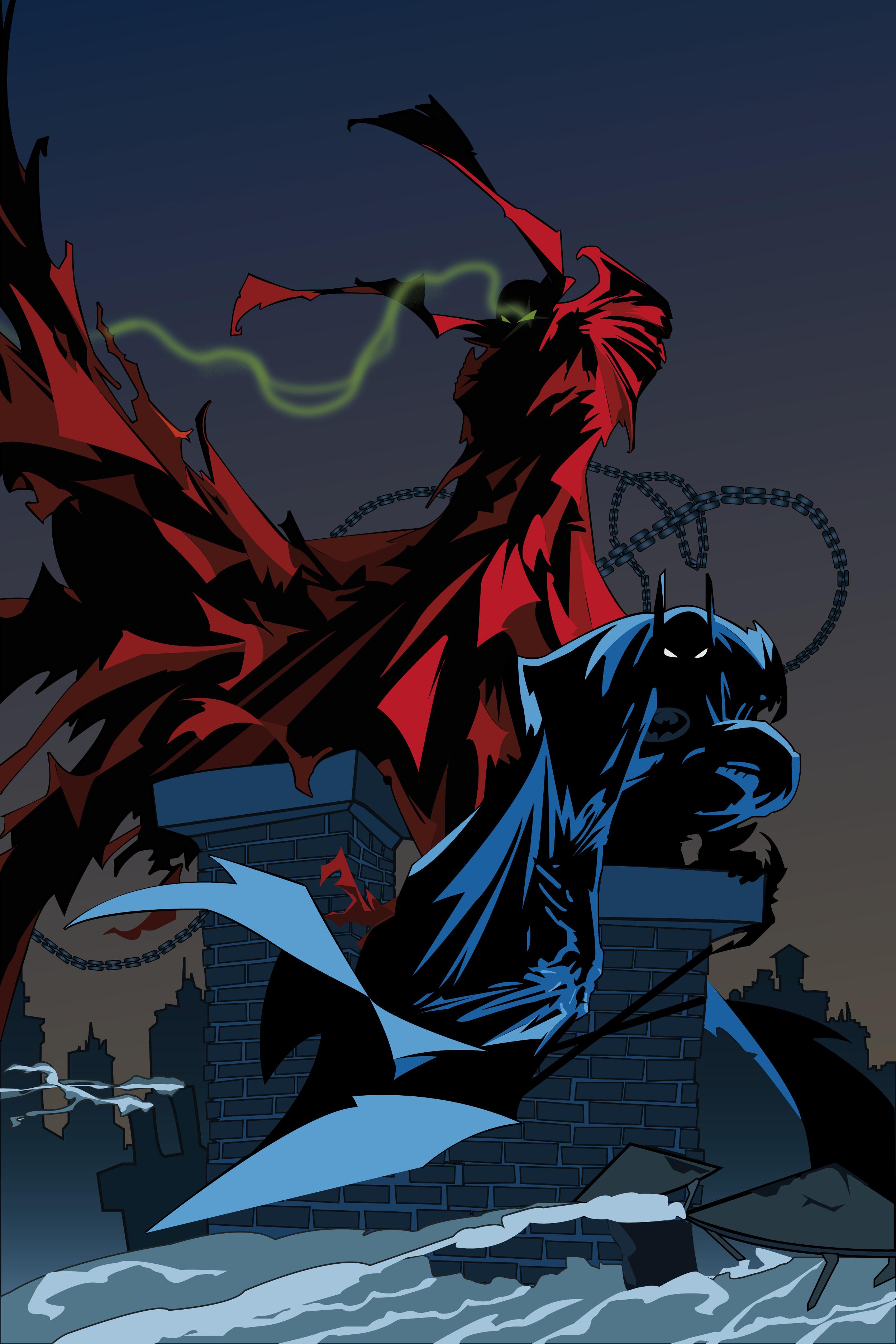 Spawn And Batman By Pixelcataklysm On Deviantart