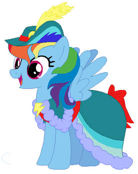 Rainbow Dash's victory celebration dress