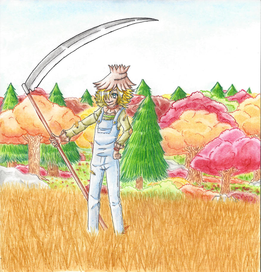 Scarecrow Guardian of the Harvest and Fall by LonelyCatAngelKaty