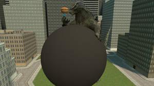 Me fatting Godzilla for Luiskoa64