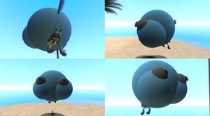 Helium bottom heavy balloon Lucario