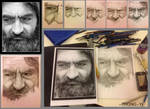 Homeless Man Pencil Portrait WIP