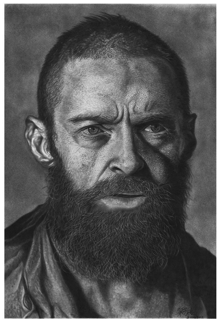 Hugh Jackman as Jean Valjean by chong-yi