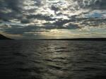 Crossing Volga in the evening