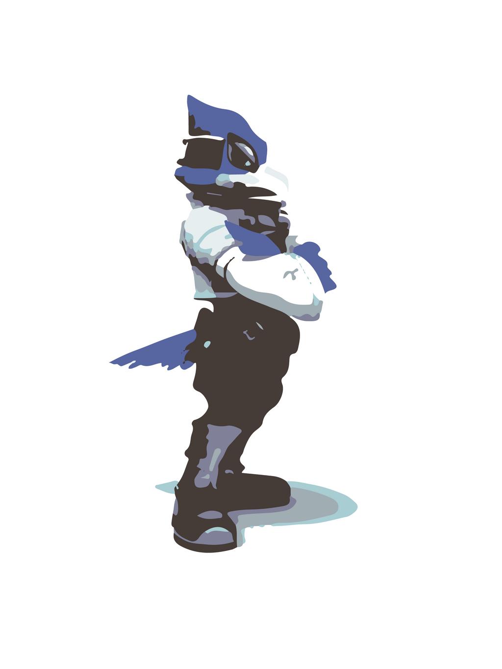 Minimalist Falco from Super Smash - 100.4KB