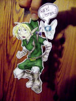 Paperchild: Link and Navi by doodle-dee