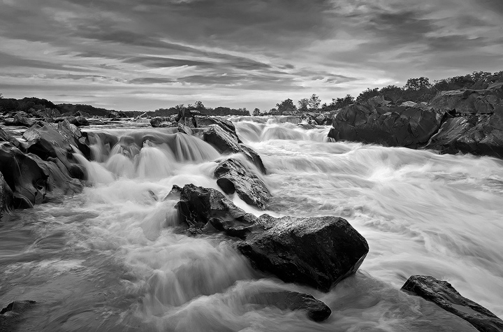 Great Falls Park, Virginia BW by Brettc