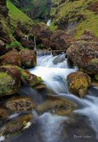 Iceland, Waterfall by Brettc