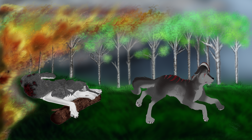 IC Full Forest Fire Drawing! by InfamousGreek on DeviantArt