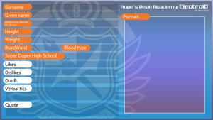 Danganronpa OC ID Template: ElectroiD style