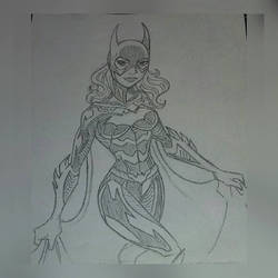 Attempted Bat Girl character sketch