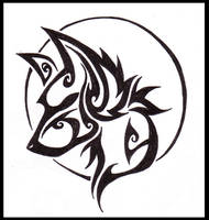 - wolf tattoo - by woodooferret