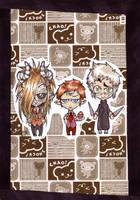 horror trio - nappilapset by woodooferret