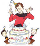 Star Trek - cakes and Q