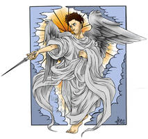 SPN - oldschool angel - with colors by woodooferret