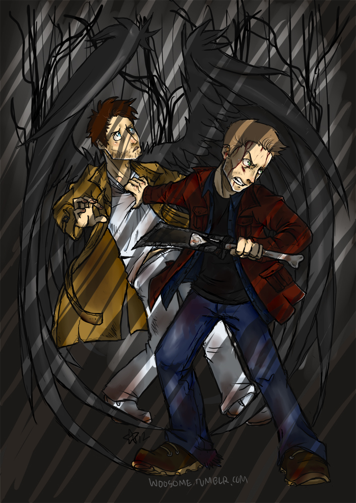 SPN - keeping the angel safe by woodooferret