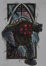 Big Daddy says hi - bioshock
