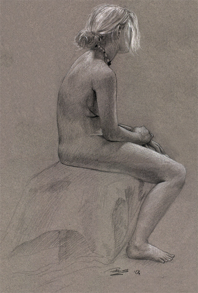Life drawing:  A sitting by thienbao