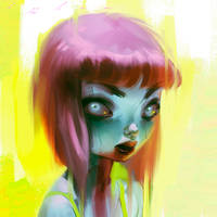 Neon Zomb-girl by thienbao
