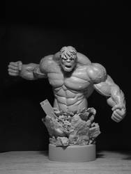 Hulk Mini Bust by BarbarianFanSculpt