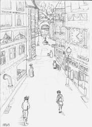 fantasy city by Elikal