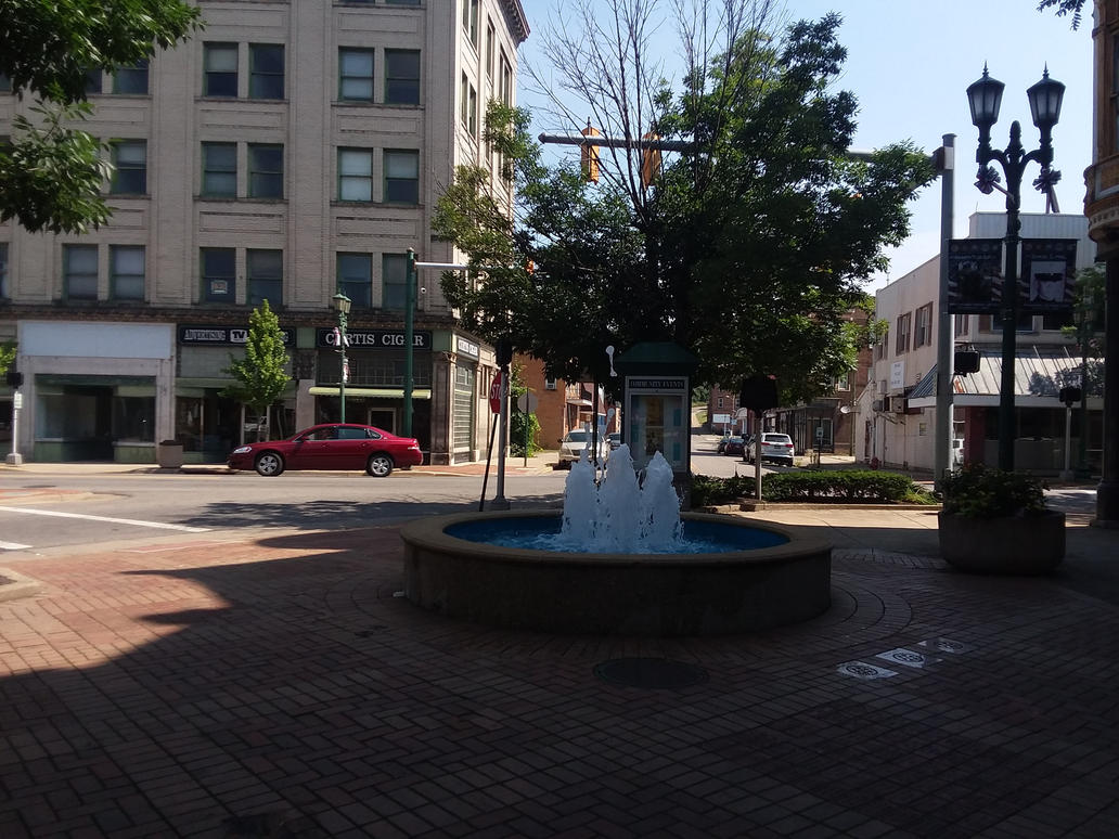 Fountain in downtown East Liverpool (7/13/18) by BryceMigliore