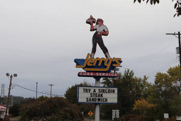 Jerry's Curb Service Sign