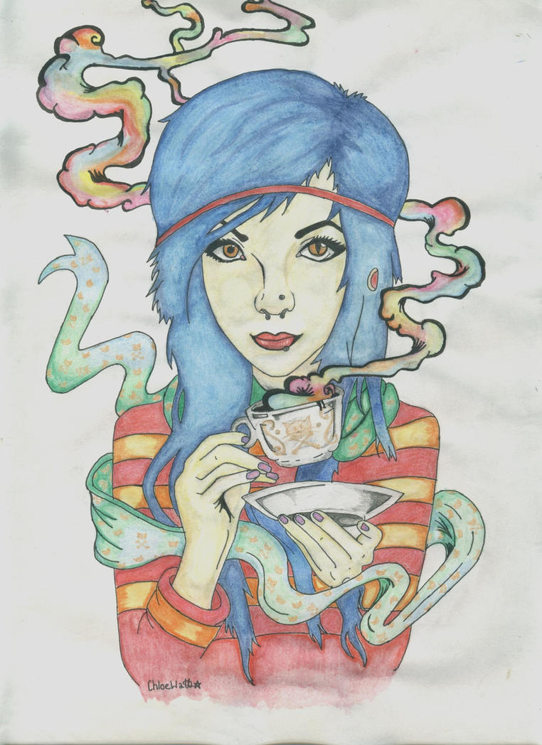 You're So Creepy~ Ghost town Fanart~ Colour by BlueGirraffexx