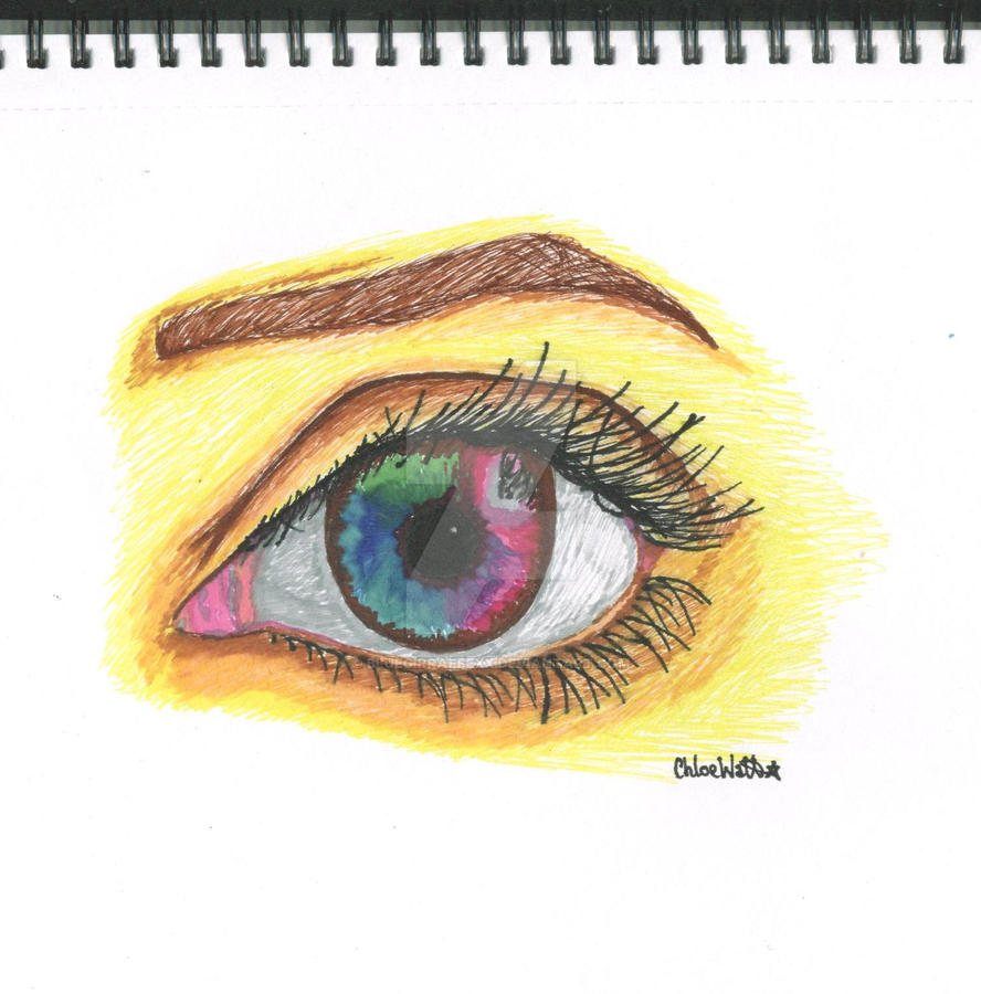 Eye Drawing by BlueGirraffexx