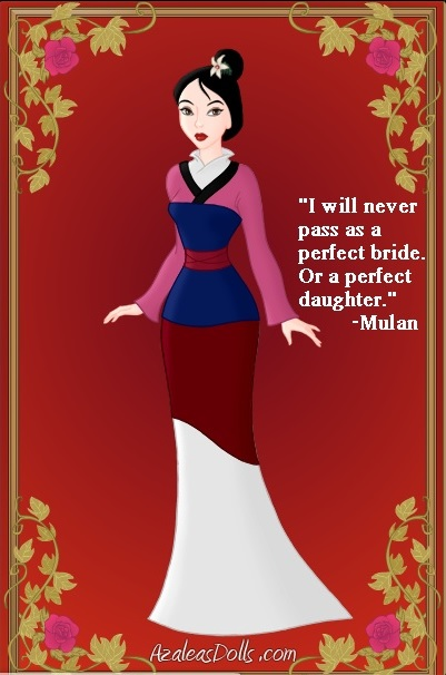 Mulan's Pink Dress by stilthouse on DeviantArt