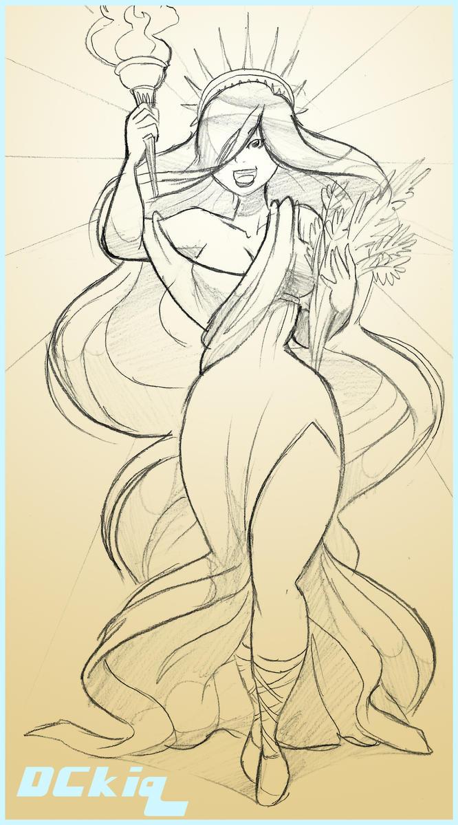 Sketch - Liberty by DCkiq
