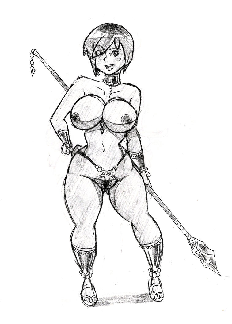 Sketch (NSFW) - Amazonian of Some Sort by DCkiq