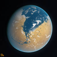 Mars - 3.6 Billion BC by DCkiq