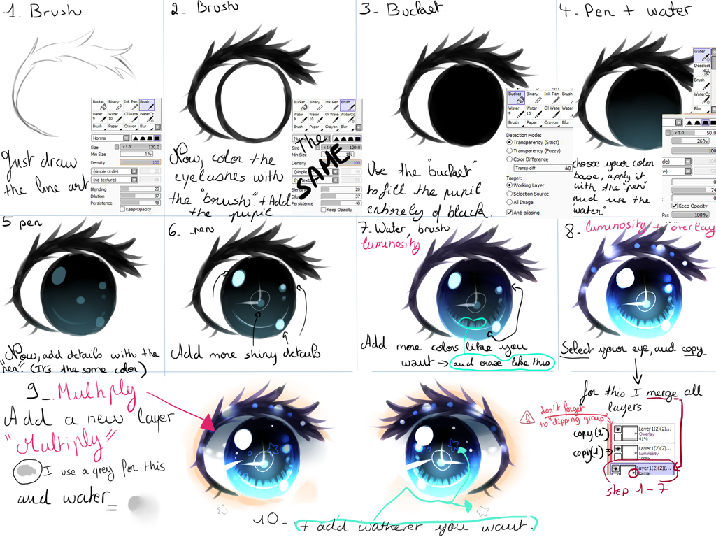 Eyes tutorial by Kirimimi on DeviantArt  Eyes tutorial b...